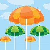 color vector illustration of summer beach umbrella