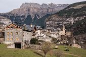 Mountain Town, Torla, Pyrenees, Ordesa Y Monte Perdido National Park, Spain