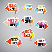 Discount Stickers, Labels, Tags