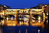 Ponte Vecchio over Arno River, Florence, Italy,Europe