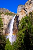 Yosemite Bridalveil fall waterfall National Park California