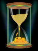 Time Is Money. Hourglasses.