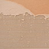 Torn corrugated cardboard.