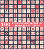 Fashionable vintage vector seamless patterns