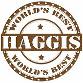 stock photo of haggis  - Label with text Haggis - JPG