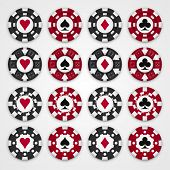 Nice set of casino gambling chips