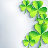 Stylish St. Patrick's Day Card With Leaf Clover
