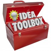 Idea Toolbox Light Bulb Tools Creativity Imagination Inspiration