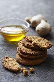 fresh ginger and honey snaps