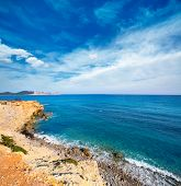 Ibiza Sa Caleta beach in south San Jose at Balearic Islands of spain