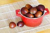 Chestnut In Red Bowl