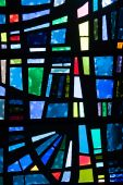 picture of stained glass  - Closeup of a stained glass window panel - JPG