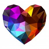 Heart shape diamond abstract background (10eps)