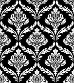 Seamless arabesque design in black and white