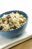 Couscous with raisins, nuts and coriander