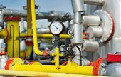 stock photo of barometer  - Close up of barometer in natural gas production industry - JPG