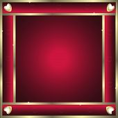 Frame-Burgandy with Gold Abstract