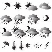 Weather Icons: Sun, Cloud, Snow, Rain