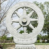 Wheel Buddhism In Thailand Temple