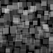 Black White Square Bokeh On Abstract Background