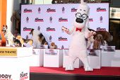 LOS ANGELES - FEB 14:  Mr Peabody, Dog Friends at the Mr. Peabody honored with Pawprints in Cement a