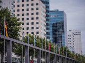 Part Of The Skyline Of Rotterdam