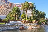 Waterfall At The Mirage Hotel In Las Vegas,