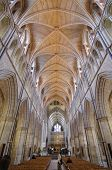 LONDON, ENGLAND - MAY 26, 2013: interior of Southwark Cathedral or Cathedral and Collegiate Church o