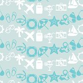 Travel and tourism seamless pattern.