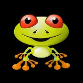 Abstract Frog Illustration on Black Background