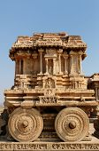 foto of chariot  - Vittalla temple in Hampi Chariot Karnataka India - JPG