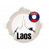 stamp Laos