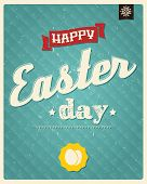 Happy Easter day card, typographical background, poster design, vector illustration
