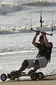 Kite Skateboarder Close-up 2