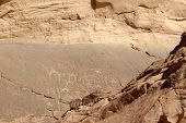 Wadi Rum petroglyphs, Jordan