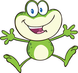 foto of cute frog  - Cute Green Frog Cartoon Mascot Character Jumping  Illustration Isolated on white - JPG