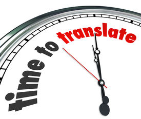 picture of dialect  - Time to Translate Words Clock Language Interpret Message Meaning - JPG