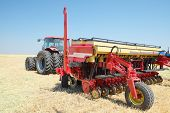 Volgograd, Russia - JULY 31, 2014: Demonstration of agricultural machinery in