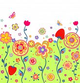 Childish summery wallpaper with strawberry. Raster copy