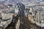 Railroad tracks Paris