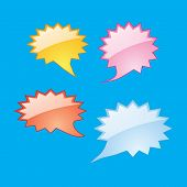 abstract Dialog Speech Bubbles Icons