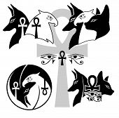 foto of anubis  - Anubis Horus Basted The God of Egypt vector art - JPG