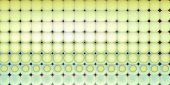 Abstract Tiled Mosaic Background In Green Blue Yellow