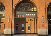 Ticket booth at the Citi Field, home of major league baseball team the New York Mets