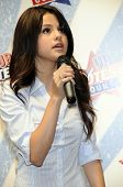 Selena Gomez appearing live.