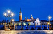 View Of Canal Grande From Piazza San Marco By Night, Venice