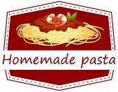 Illustration of homemade pasta