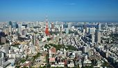 View of Tokyo city and Tokyo tower
