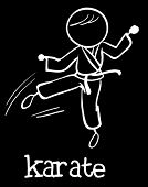 Illustration of stickman doing karate