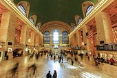 Interior Of Grand Central Station in New York City.